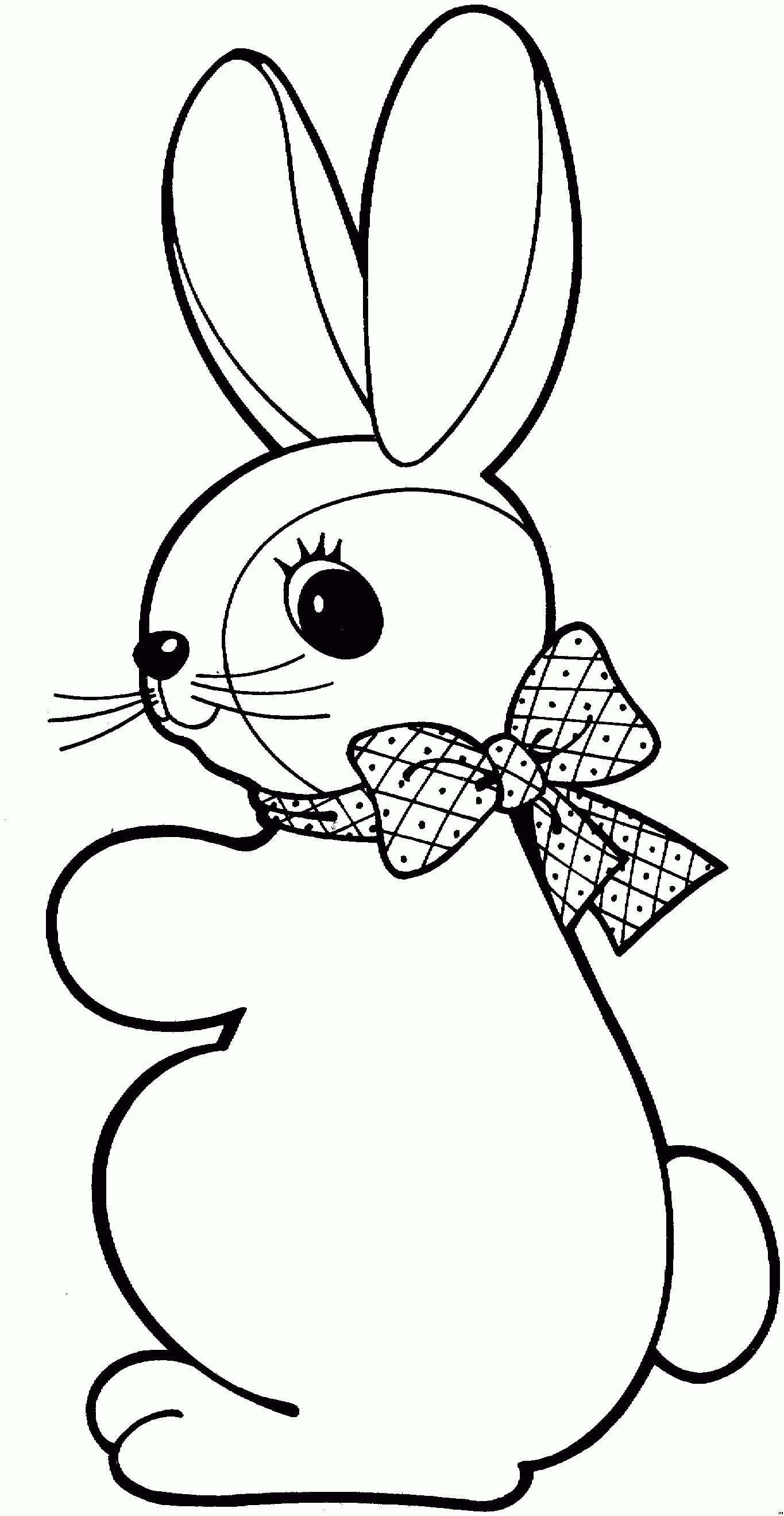 Rabbit Free To Color For Children Rabbit Coloring Pages For Kids