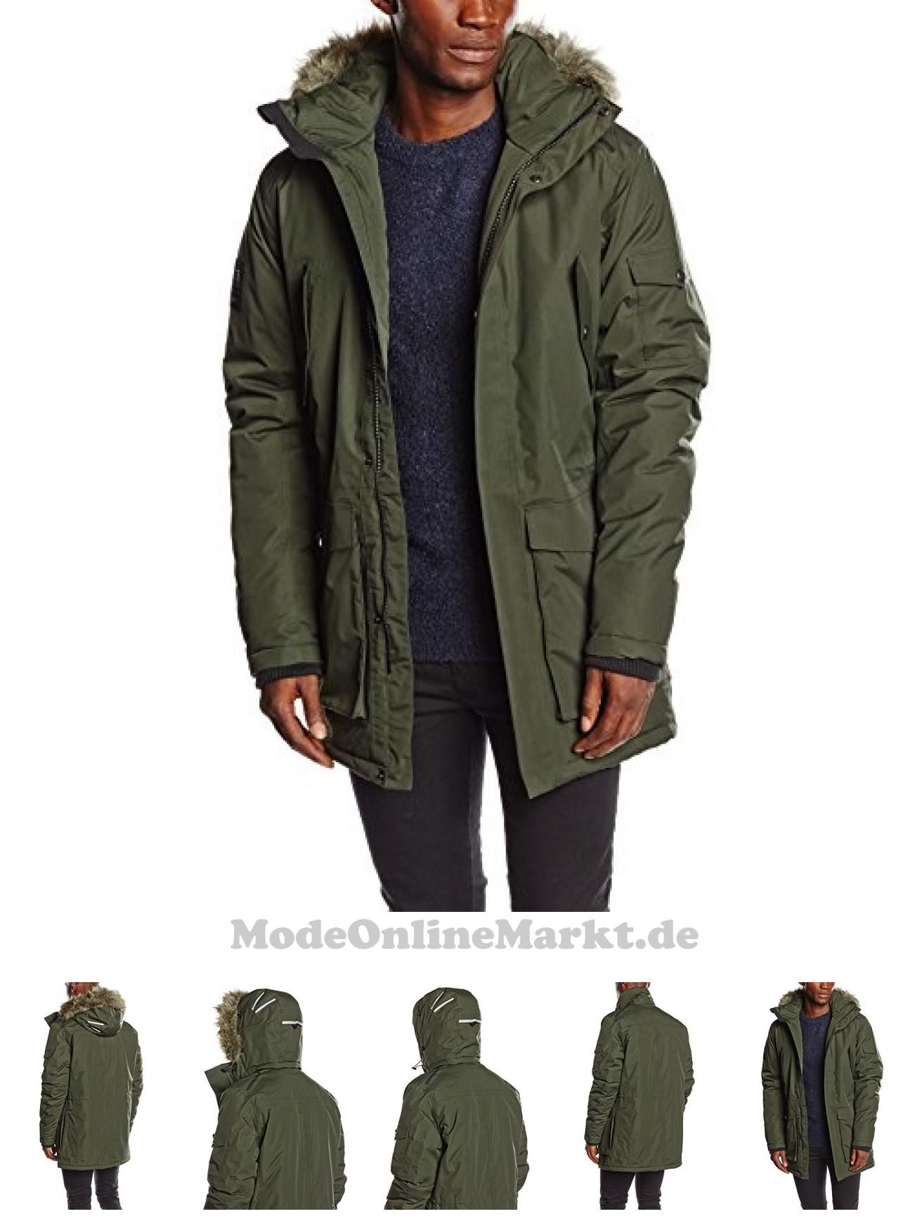860e447ec34a 5712830213653    Jack  038   Jones  Tech  Herren  Parka  Meyland  Jacket,   Forest  Night,  48,  12090486
