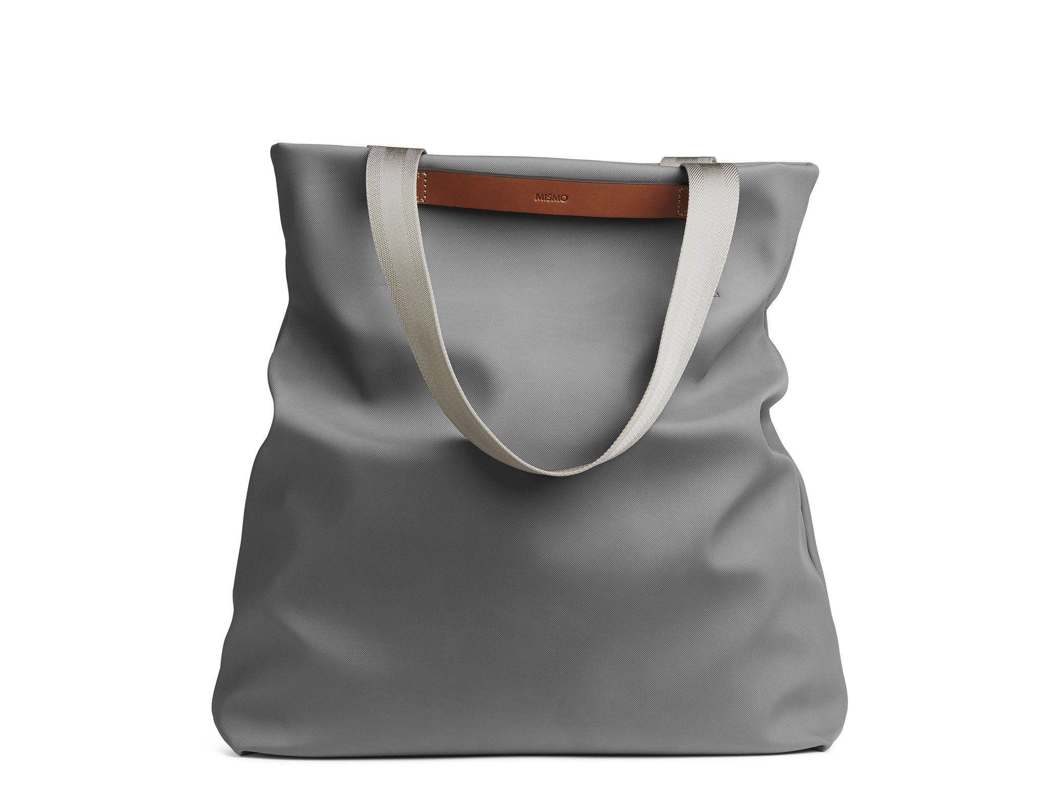 M S Flair Concrete Cuoio Tote Bag Mismo