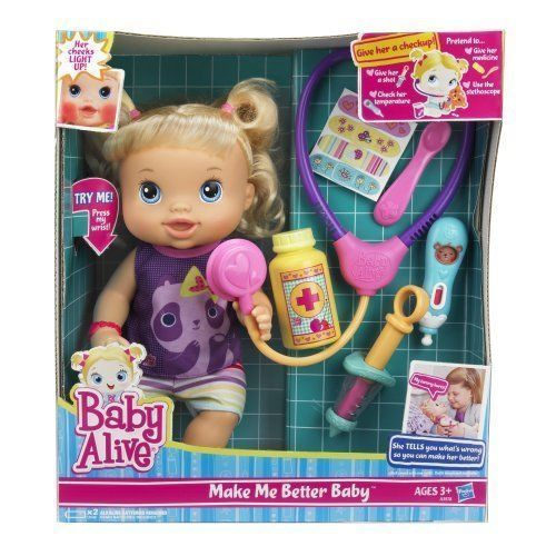 Baby Alive Make Me Better Baby Doll Blonde New Babyalive Best Baby Doll Baby Alive Dolls Baby Dolls