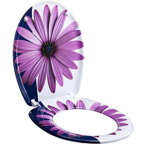 designer toilet seat purple daisy addie pinterest artworks
