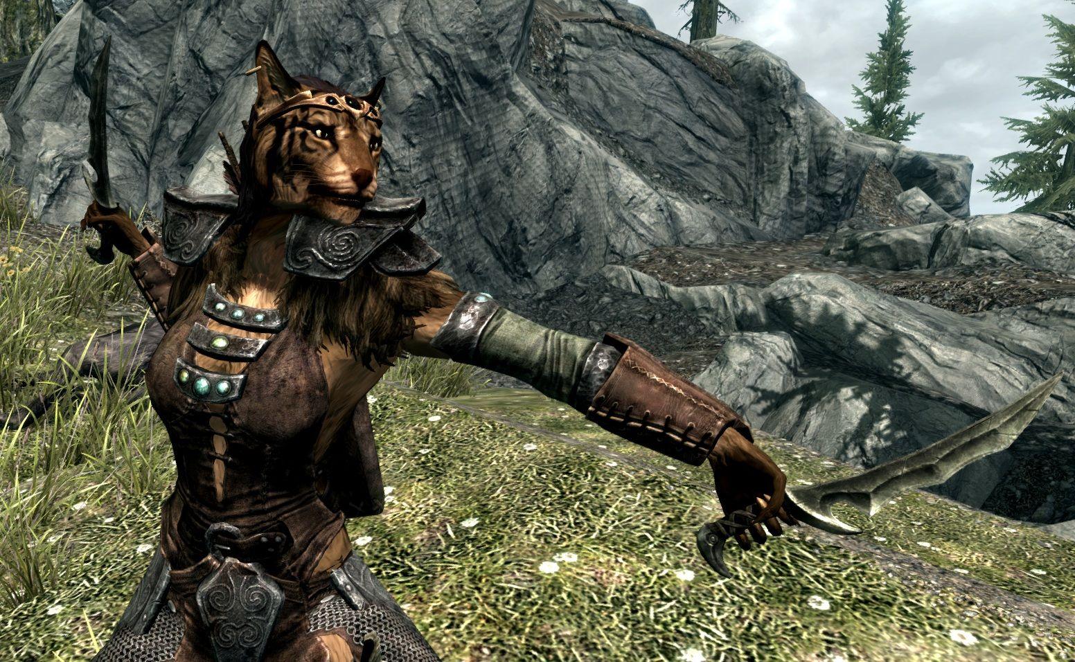 Skyrim Character Design Ideas : Female khajiit elder scrolls v skyrim gamers will