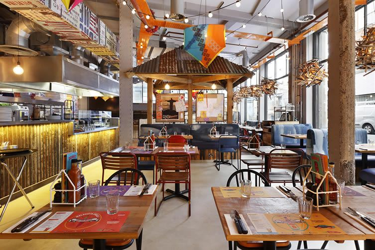 Chaotic Brixton Brazilian fit out embodies the country's unique visual aesthetic with upcycled interiors...