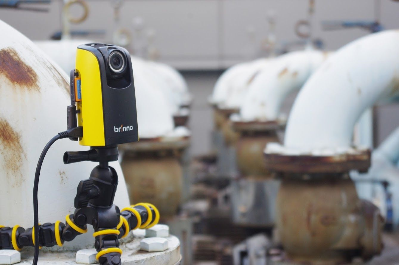 How does Brinno BCC100 Construction camera work with Eye
