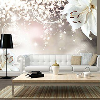 Murando   Fototapete 350x245 Cm   Vlies Tapete   Moderne Wanddeko   Design  Tapete   Wandtapete   Wand Dekoration   Blumen Lilien Abstrakt Ornament  Bokeh ...
