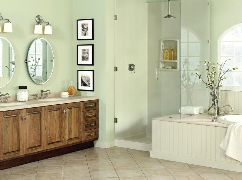 Master Bathroom Swanstone shower walls, vanity top and bowl, custom ...