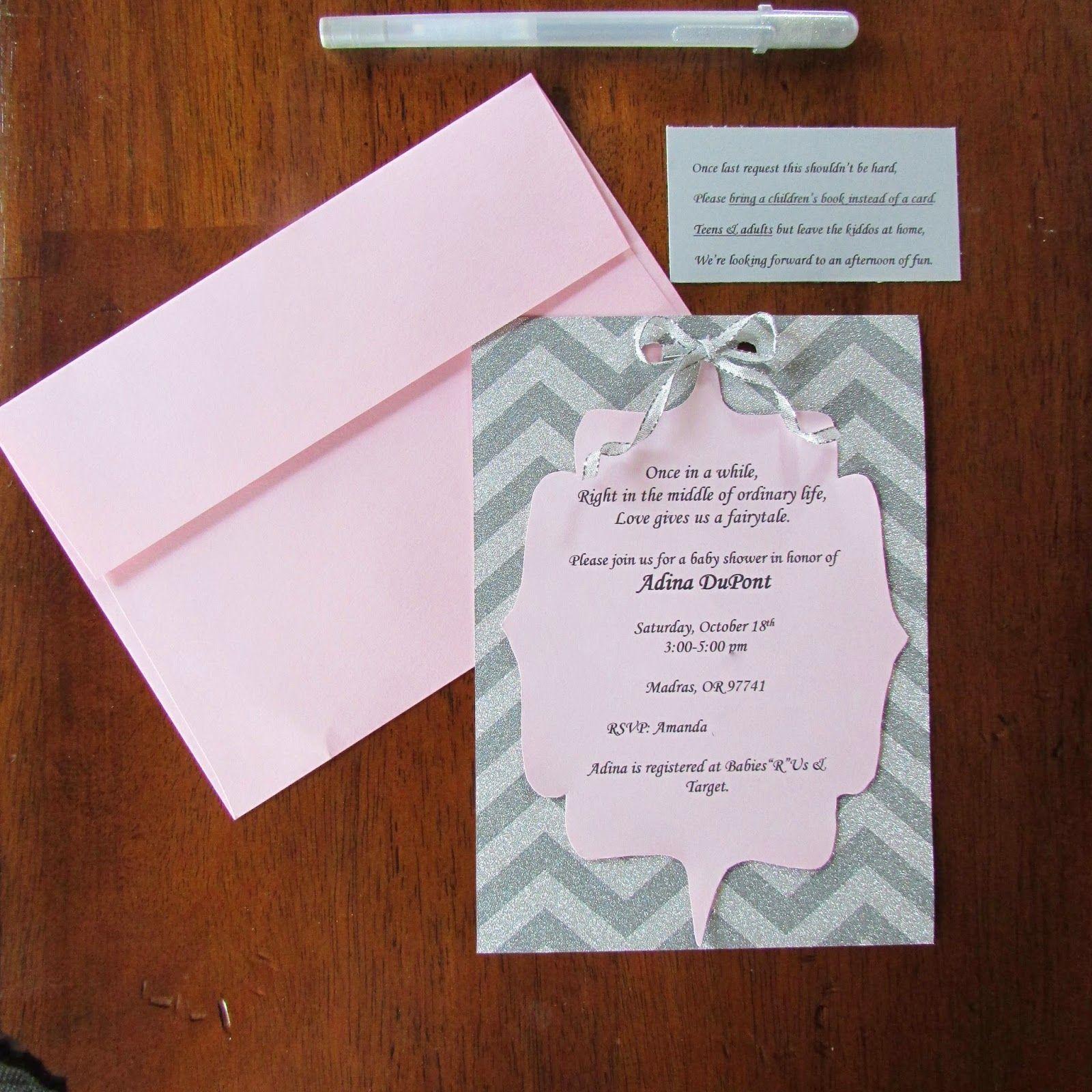 Baby Shower Invitations Diy Baby Shower Invitations Pink Envelope