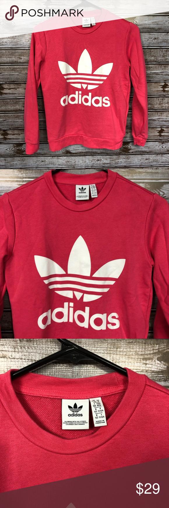 Adidas Girls Youth Pink Leaf Line Logo Sweatshirt Adidas Girl Sweatshirts Pink Leaves [ 1740 x 580 Pixel ]