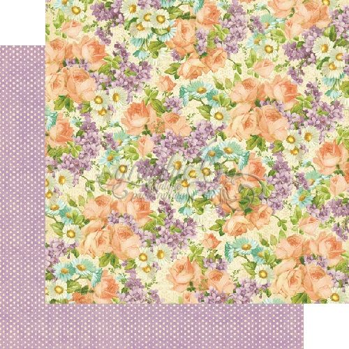 Graphic 45 - Sweet Sentiments Collection - 12 x 12 Double Sided Paper - Perfect Petals
