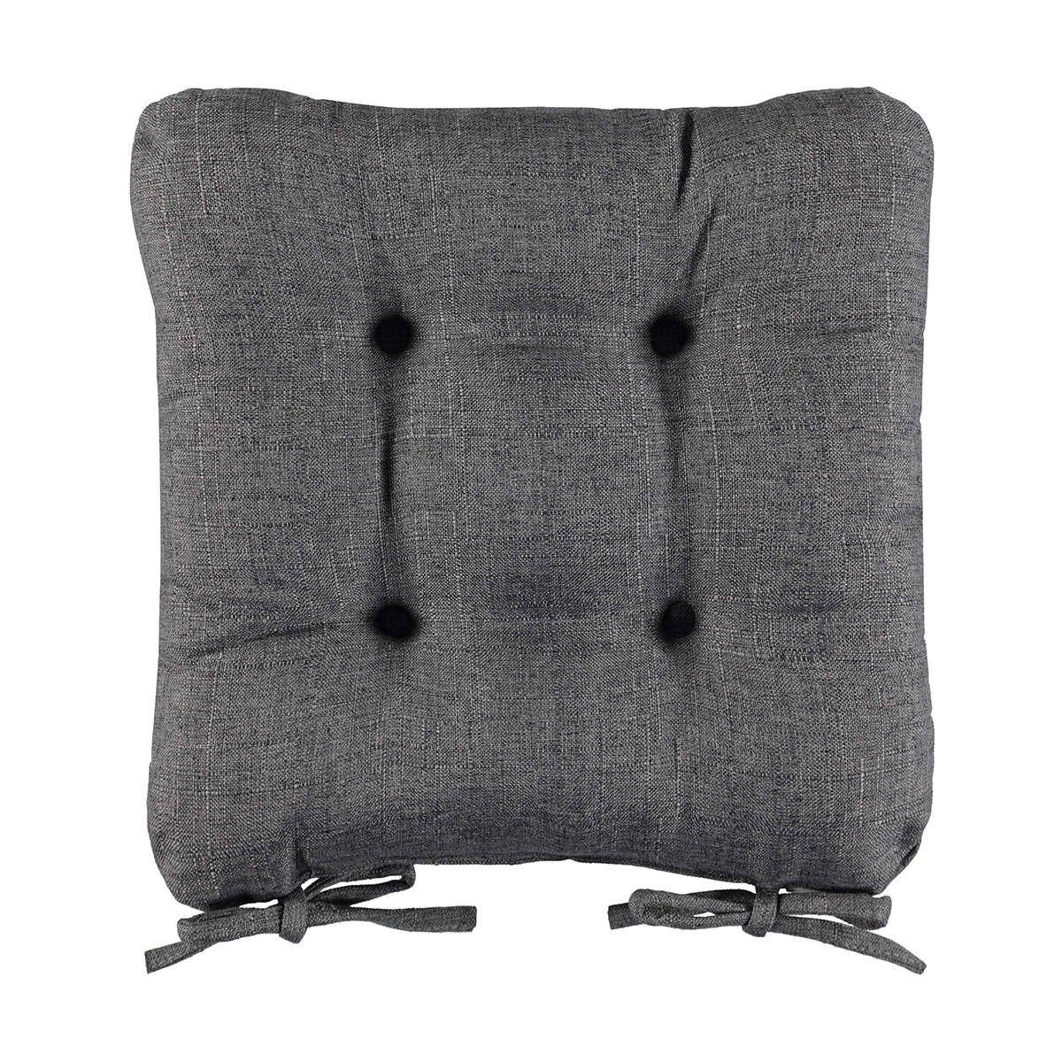 Grey Chair Pad Cushion Kmart Round chair cushions