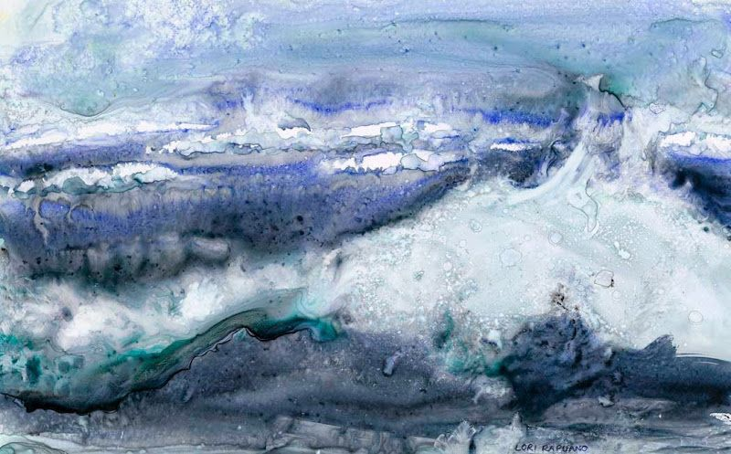 Windblown, wind and the waves, by Lori Rapuano