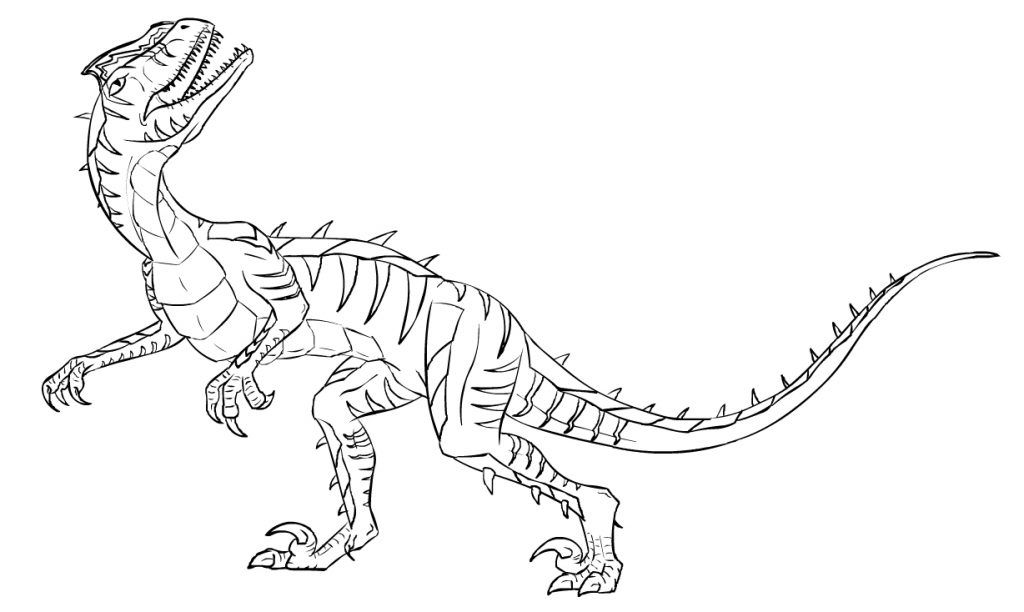 Velociraptor Color Pages Coloring Pages