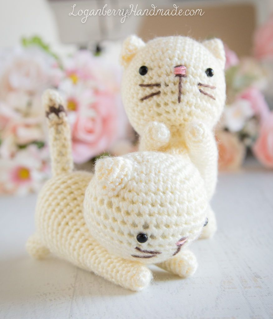 Crochet Cats Pattern Amigurumi Cats Free Pattern Tutorial Knitted Cats Crochet Kittens Lynx Point Crochet Cat Pattern Crochet Amigurumi Free Knitted Cat