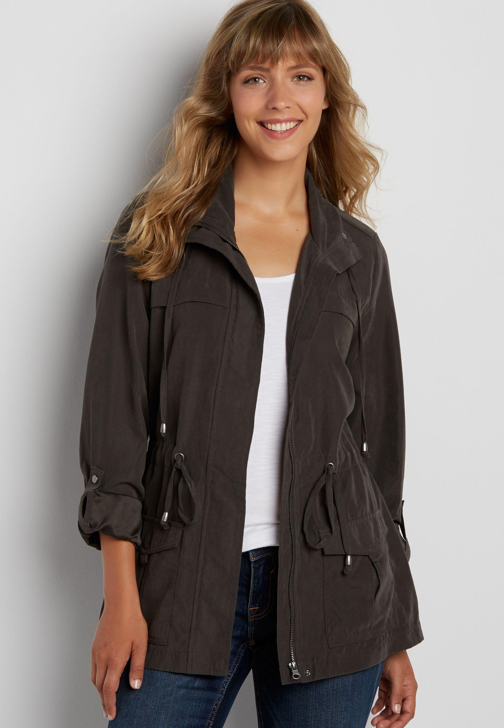 6d91de816c faux suede anorak jacket