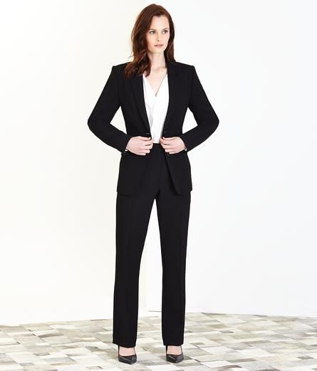 Black Washable Trouser Suit