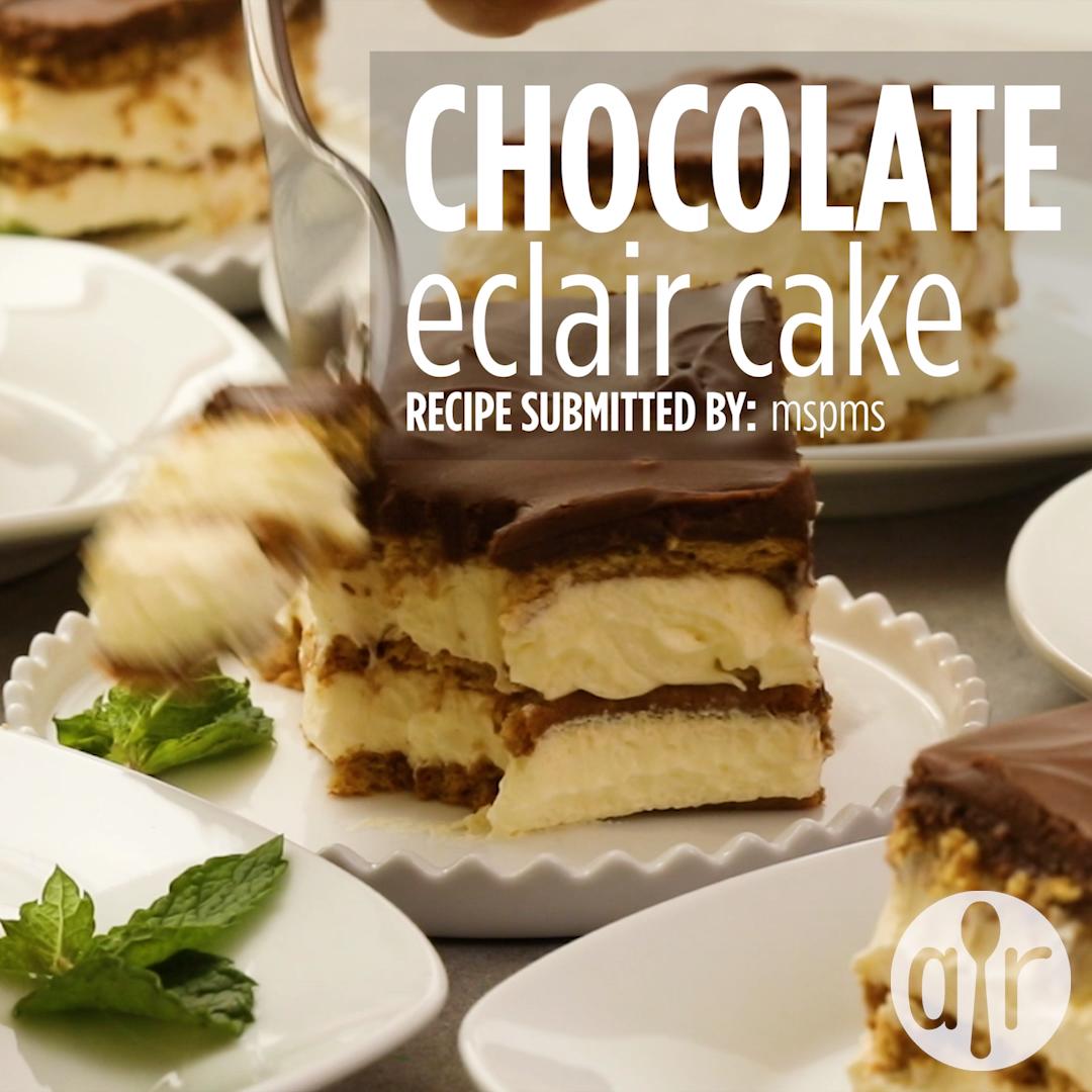 Chocolate Eclair Cake #easythingstocook
