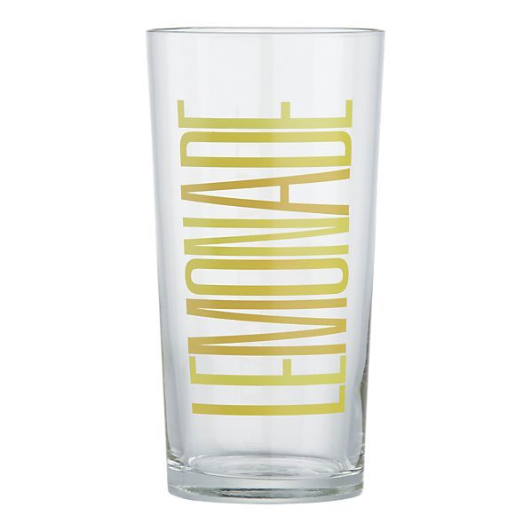 lemonade glasses from crate and barrel $2.95