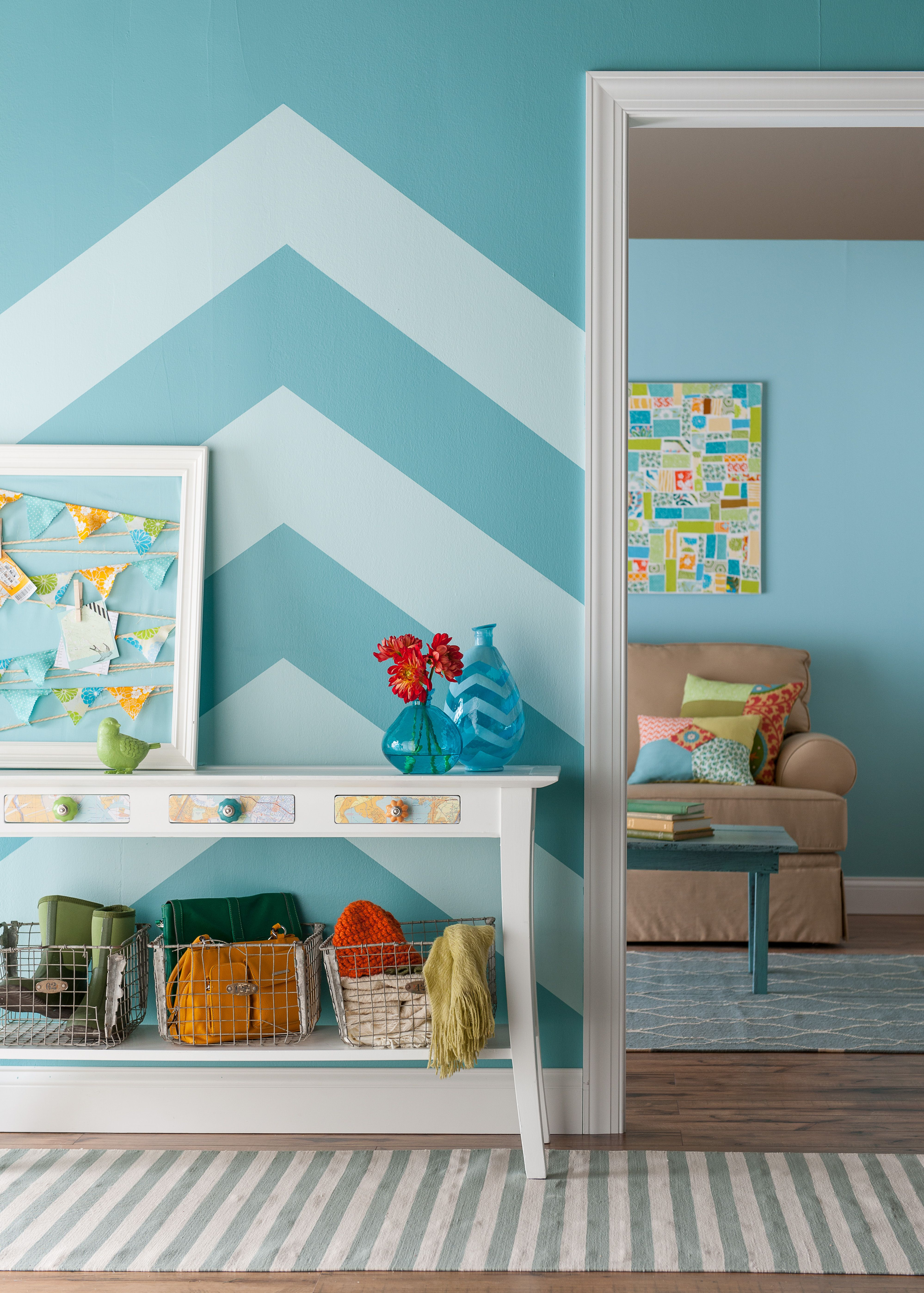 How To Paint A Chevron Pattern Chevron Patterns Walls And Room