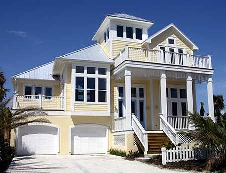 Plan 13128fl classic coastal house plan coastal house for Beachside home designs