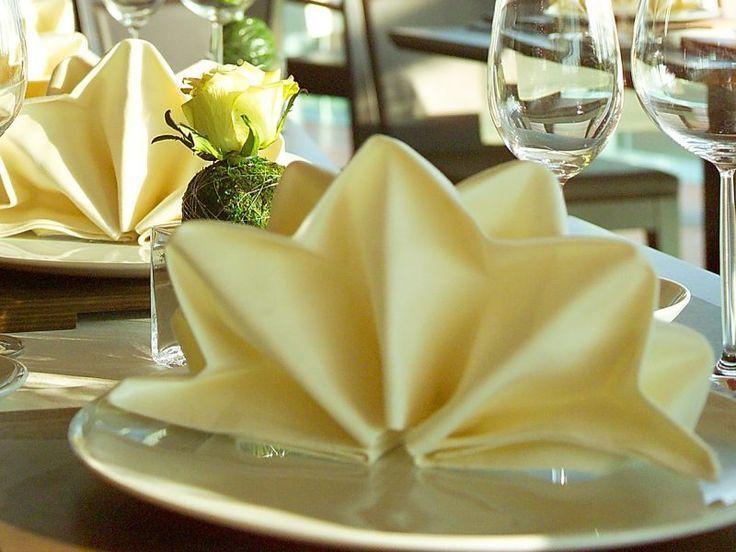 Servietten Fold Star: Faszinierende Tischdekoration selber machen #decoration #f... #tischeindecken