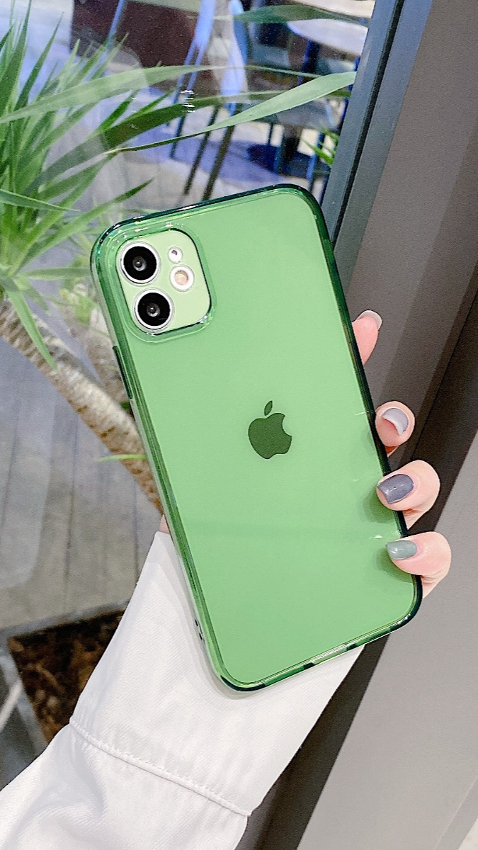 Green iphone clear case