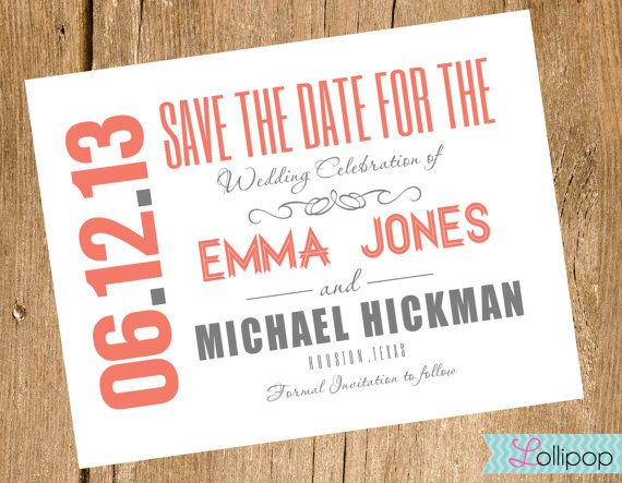 Save the date design idea | Wedding Stationary | Diy save ...