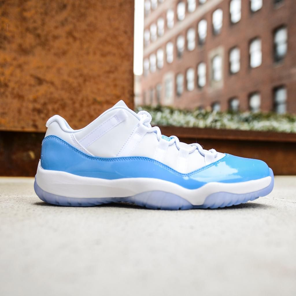 95585f04d82bbc Air Jordan 11 Retro Low White   University Blue Credit   FootAction  Nike   Inside  Sneakers