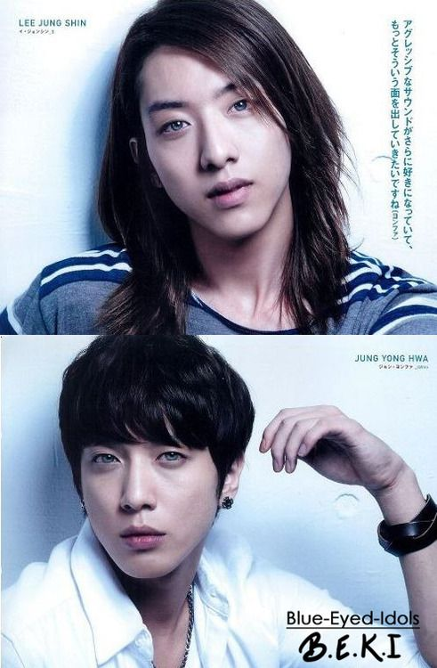 Blue Eyed K Pop Idols 346 Submitted Otp Edits Youngjung Jung Yonghwa Lee Jungshin Cn Blue Cnblue Blue Eyes Idol