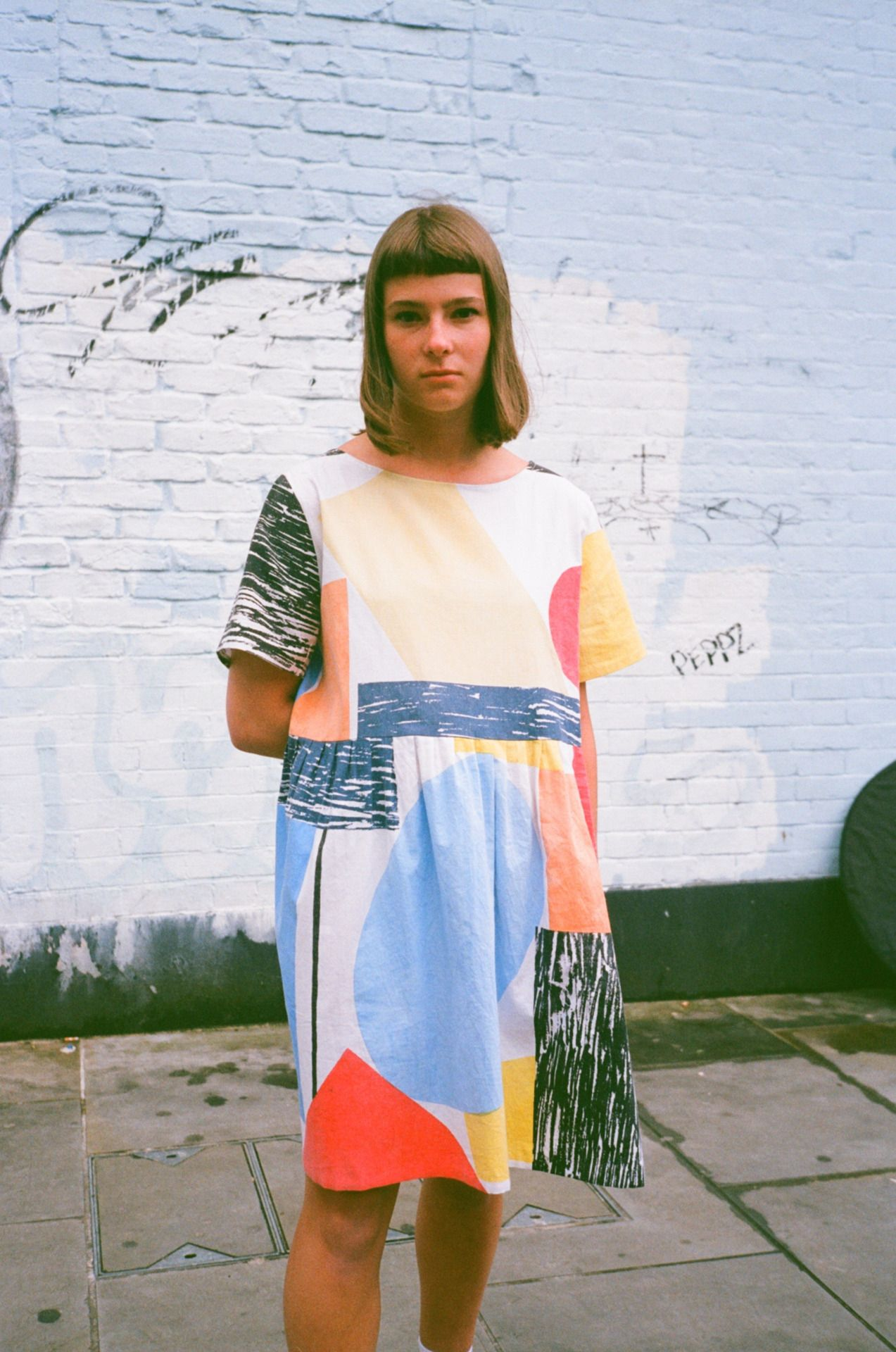 44c721a3bbd73 8 colour screen printed dress - Liisa Chisholm // Photography - Blue  Laybourne…