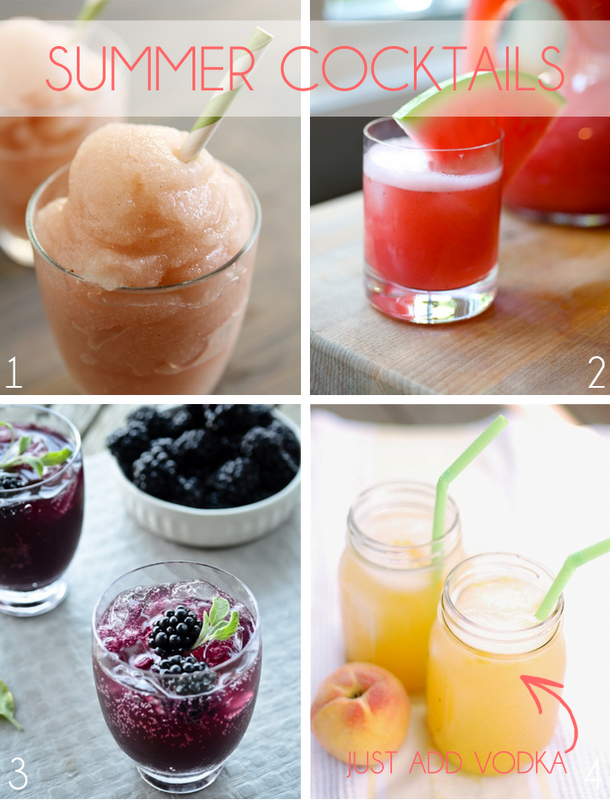 Summer Cocktails. I will have a #4 please :)