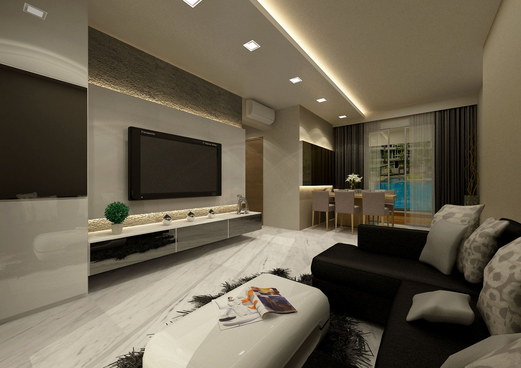Best Interior Design For Living Room Brilliant Graphic Executive Condominium Interior Design  Renovation Inspiration
