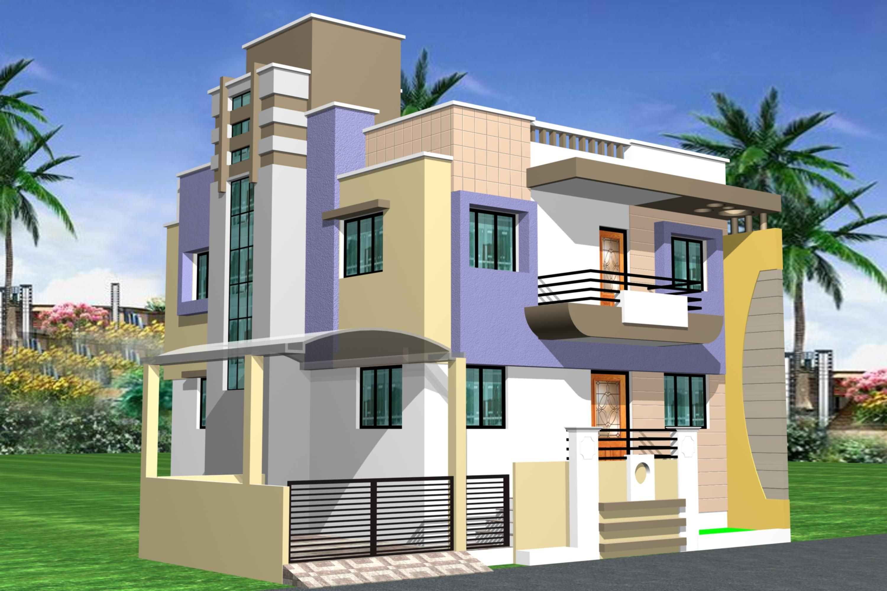 Elegant Simple House Model In Tamilnadu