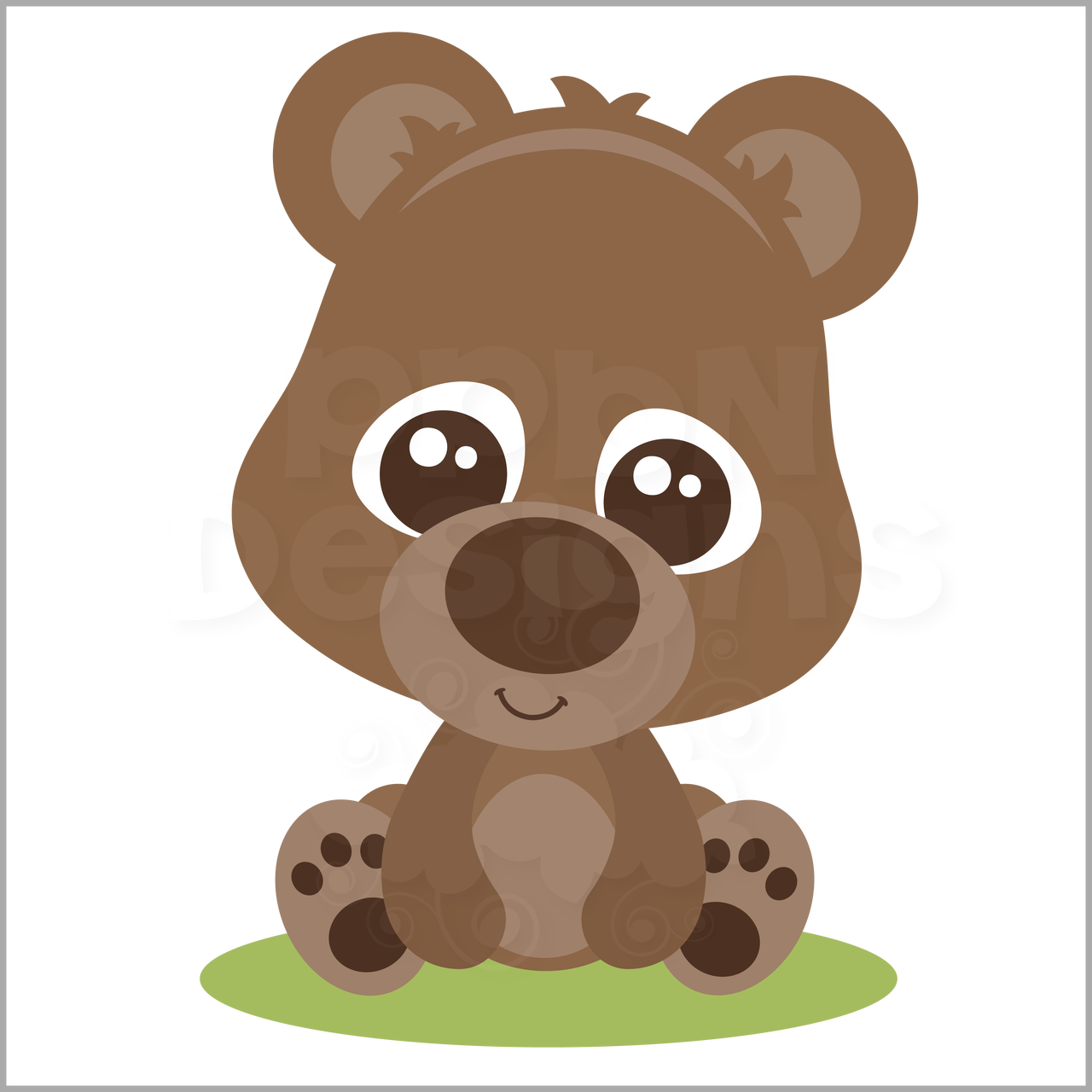 SVG file baby bear