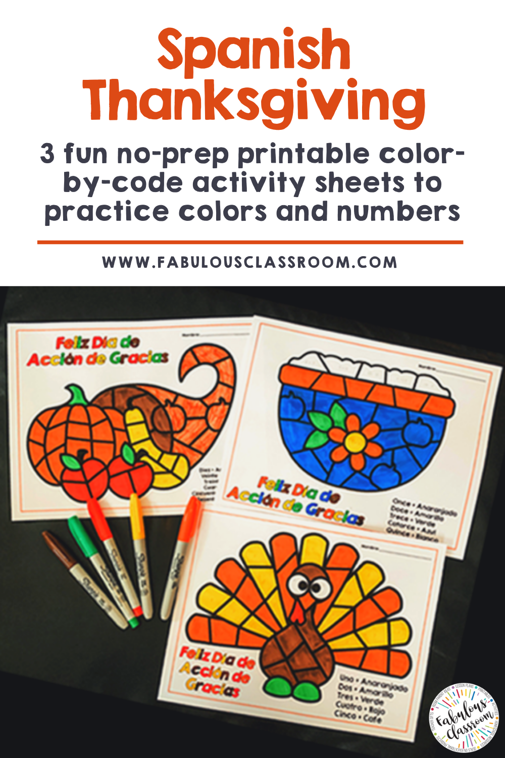 Thanksgiving Spanish Color By Number Worksheets No Prep Spanish Teacher Resources Spanish Colors Spanish Teaching Resources [ 1500 x 1000 Pixel ]