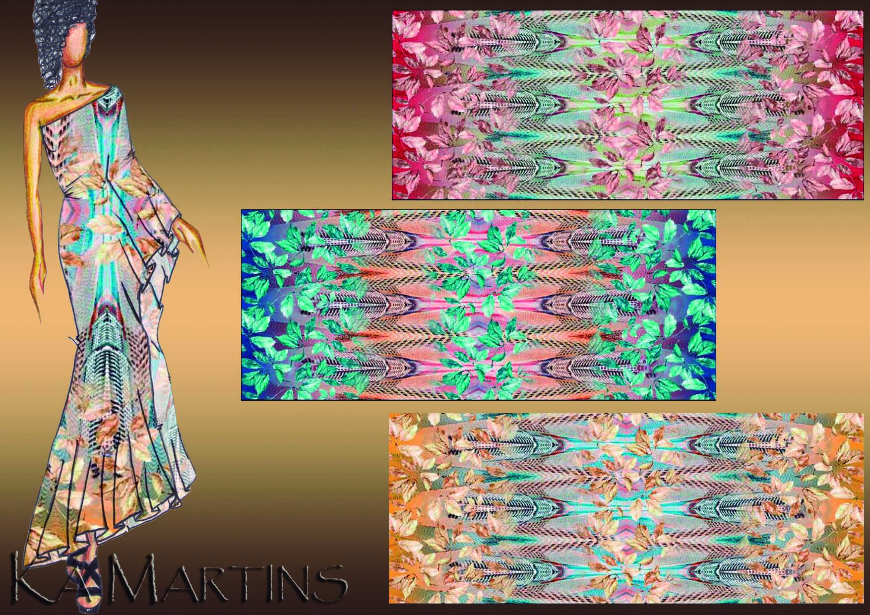 Prédios - Estampa colorida por Ká Martins para Natan Tecidos.