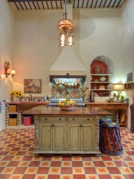 Casascolonialesyucatecas cocinas pinterest casas for Decoracion colonial mexicana