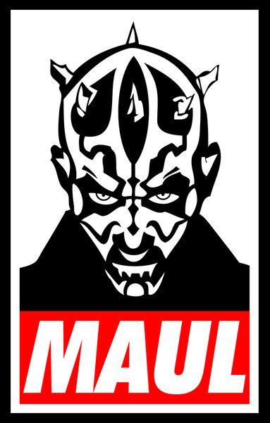 Obey Darth Maul - Star Wars Art Print | Tees | Pinterest ...