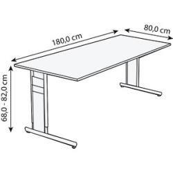 Kerkmann Priola höhenverstellbarer Schreibtisch weiß rechteckig Kerkmann