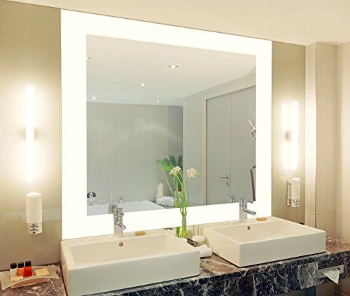 Badspiegel Mit Beleuchtung Vella M444L4: Design Spiegel Für Badezimmer,  Beleuchtet Mit LED Licht