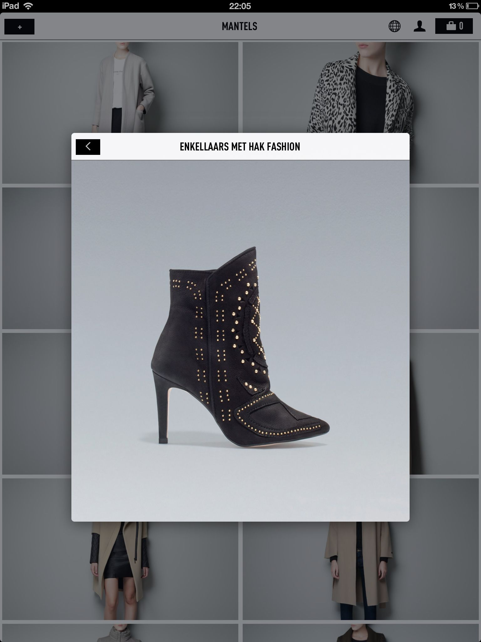 Black studded leather boots - zara