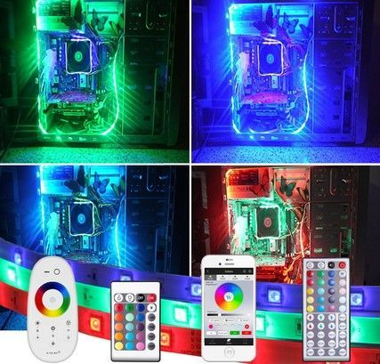 PC led strip set 4 meter RGB Basic inclusief afstandsbediening ...