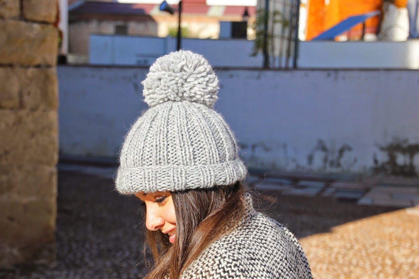 d3eecec49039c DIY Cómo hacer gorro de lana dos agujas (patrón gratis) blog de costura y  blog diy