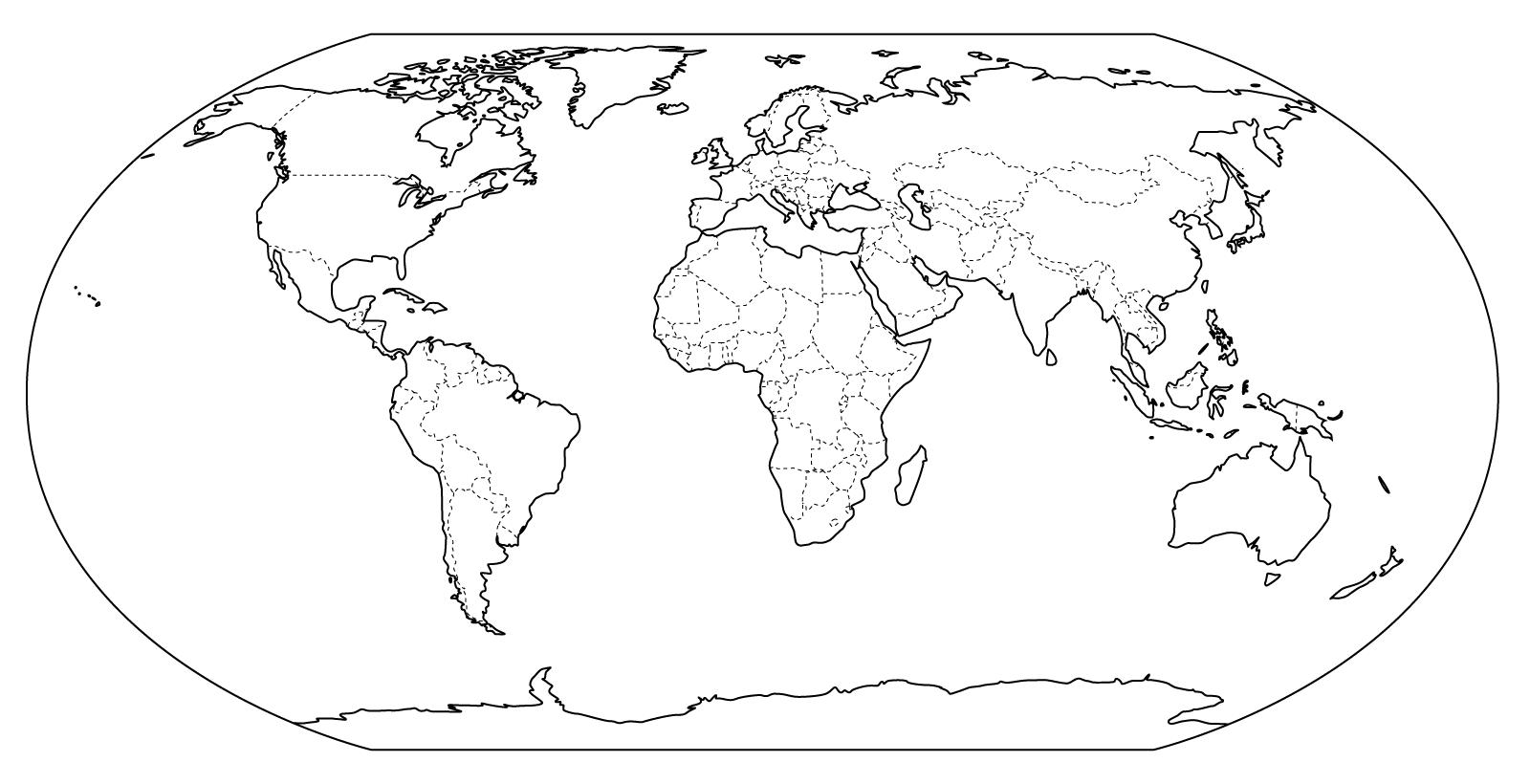Mapa Del Mundo Para Dibujar: Planisferio Division Politica + Antiguo + Dibujo Lineal