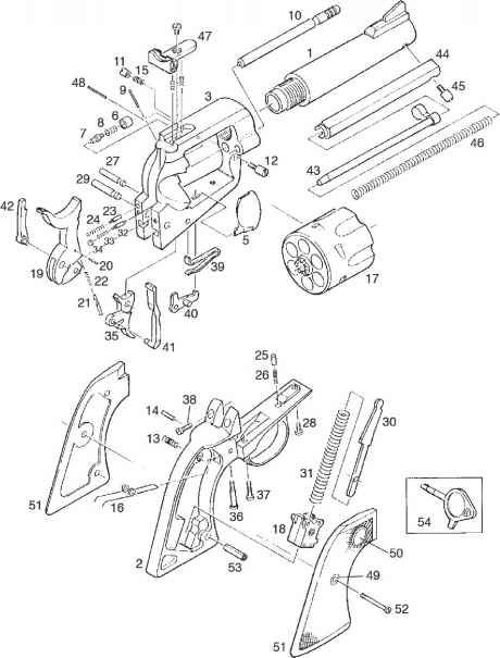ruger pistol parts diagram data flow for employee management system blackhawk exploded revolver pinterest