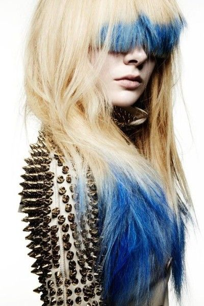 spikes and blue hair