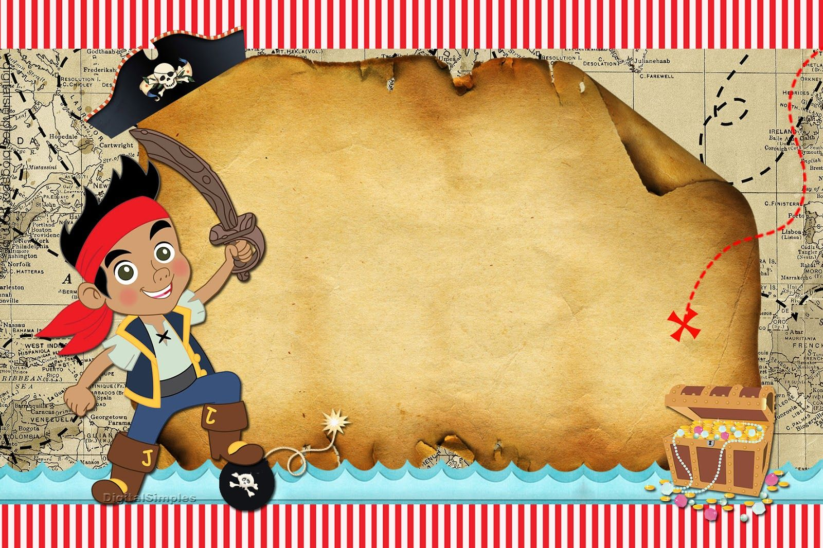Pin De Melisa Amore En Cumple Pirata Invitaciones Piratas