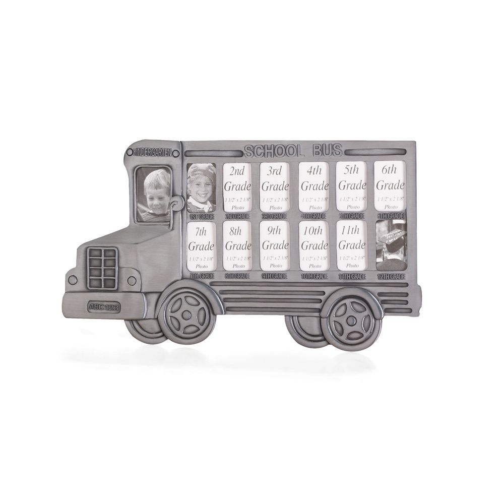 Pewter School Bus Photo Frame Grades K-12 | What People Buy ...