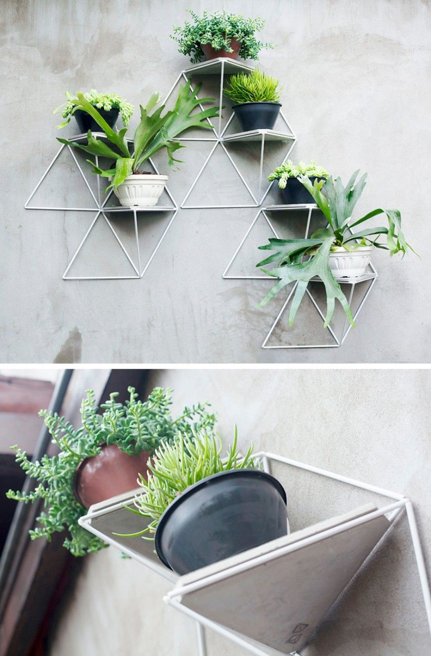 10 Modern Wall Mounted Plant Holders To Decorate Bare ...