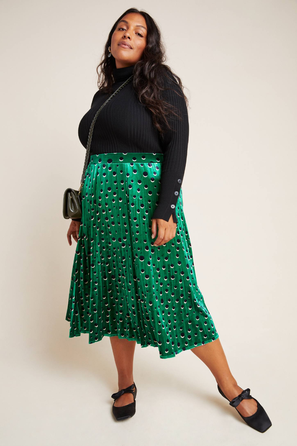 Carly Pleated Velvet Midi Skirt by Maeve in Assorted Size: L, Womens Skirts at Anthropologie