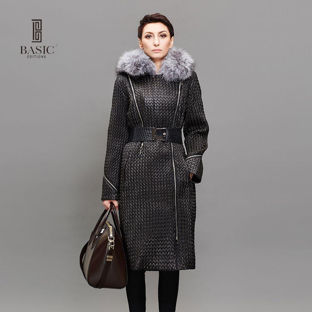 BASIC EDITIONS Womens Winter Long Slim Parka 3M Thinsulate Warm ...